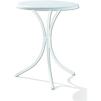 Sieger 100/W Bistro Tisch Mit Mecalit Pro Platte Ø 60 Cm