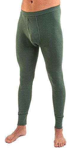 HERMKO 3540 2er Pack Herren lange Unterhose long johns (Weitere Farben) Olive