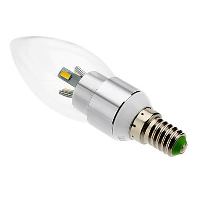 FDH 3W E14 Luces de velas LED SMD 6 5630 300 lm Blanco cálido de 85-265 V CA