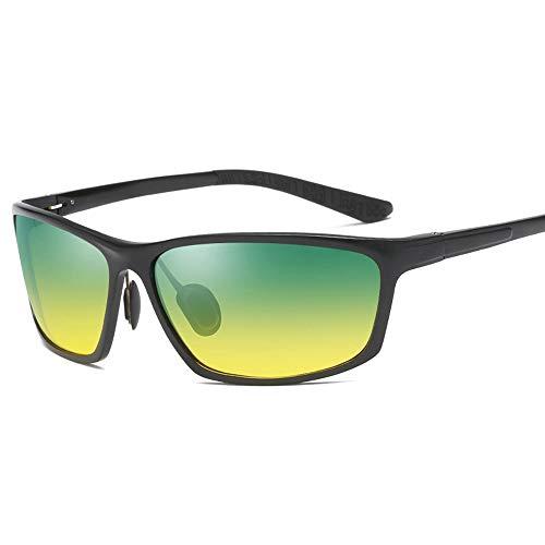 GXM-FR Polarisierte Sonnenbrillen, Tag- und Nachtfahrten, Angeln, Outdoor-Sportbrillen, Nachtsichtbrillen für Männer und Frauen mit Anti-Blu-Ray-UV400-Schutzbrille,Black