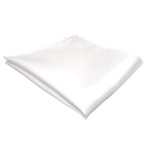 reinweiss - gewebtes TigerTie Einstecktuch in der Farbe Reinweiß Weiss - Tuch Kavalierstuch Pochette Stecktuch 100% Seide