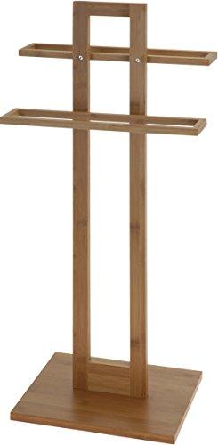 Bambus Handtuchhalter - Stummer Diener - Holz Handtuch Ständer Kleider Stange
