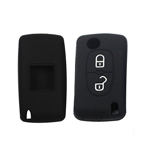 Carcasa Funda Silicona para Llave Peugeot 207 308 Citroen C3 C4 C5 2 Botones Case Protección Remoto Mando Coche