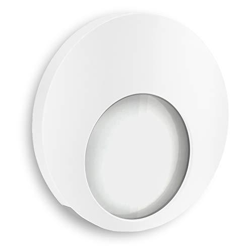 Kompakte Einbauleuchten (SSC-LUXon® LED Treppen-Einbauleuchte KAMA in weiß 230V 1W - kompakte Design Wandleuchte zur Stufen & Treppenbeleuchtung)