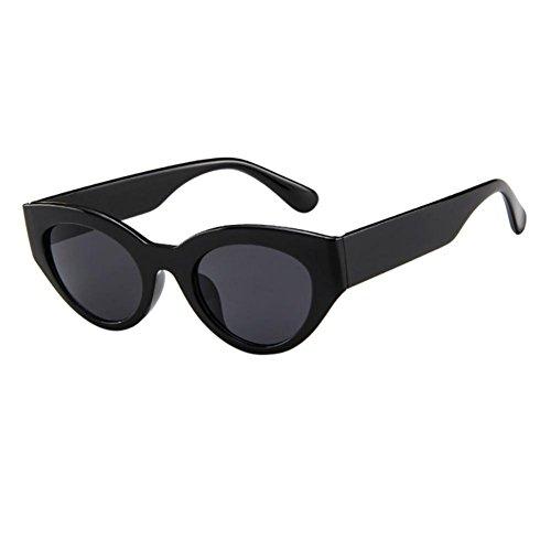 Dragon868 Hochwertige Nerd Sonnenbrille matte Rubber Herren/Damen Retro Vintage Rapper ovale Form Rahmen Sonnenbrillen Eyewears (F)
