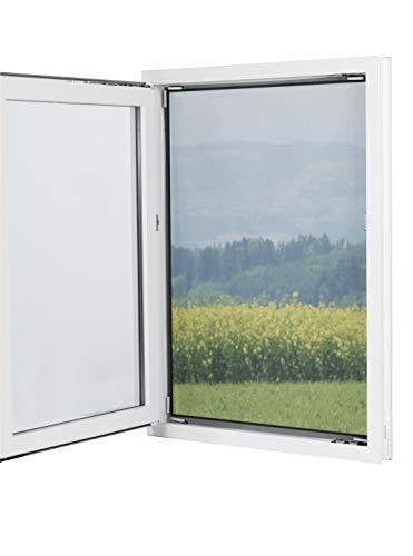 Fenster-Moskitonetz mit Magnetbefestigung 150 x 130cm | Zuschneidbar ohne Bohren mit Magnet - Klebmontage für alle Fenster | Durchsichtig | Insektenschutz Fliegenvorhang