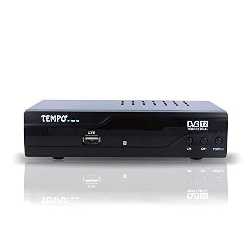 Tempo 4000 TNT Receiver Digital - H.265 HEVC / HD / DVB-T2 / Kompatibel für neue Kanäle / HDMI Full HD USB