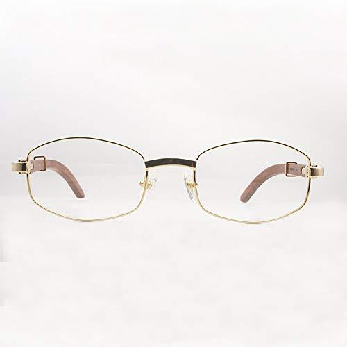 LKVNHP Hochwertige Holz Sonnenbrille Am Besten Gut Gestalteten Rahmen Carter Sonnenbrille Herrenbrillen Holz Sonnenbrille Männer Für FahrenGold Klare Linse