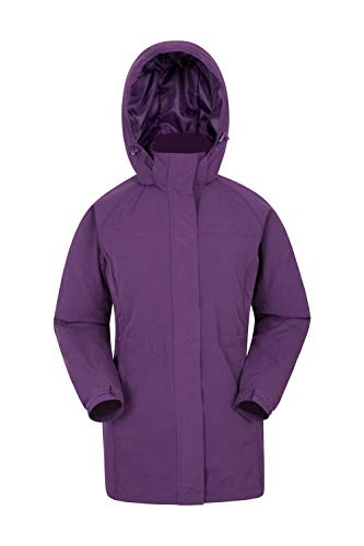 Mountain Warehouse Westport Damen-Winterlangjacke Mantel - Wasserabweisende Regenjacke, verstellbar, mehrere Taschen, warme Winterjacke Violett DE 50 (EU 52)