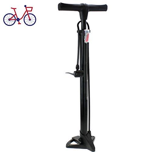 Smartweb HOCHDRUCK Fahrradpumpe für alle Ventile Sport Luftpumpe Standpumpe Fußpumpe Pumpe