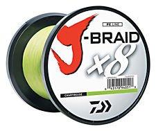 Daiwa J-Braid X8 0,16mm 10Kg 300m chartreuse Geflochtene Schnur