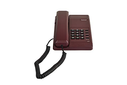 Beetel B11 Basic Corded Phone (Dark Red)