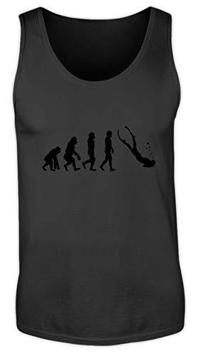 Shirt - Evolution Freitaucher | Geschenk - Herren Tanktop -XXL-Schwarz