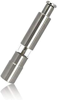 Pepper Grinder, Hand Pump and Grind Mills, Premium Stainless Steel Set of 1, for Black Pepper, Sea Salt and Himalayan Salt, P