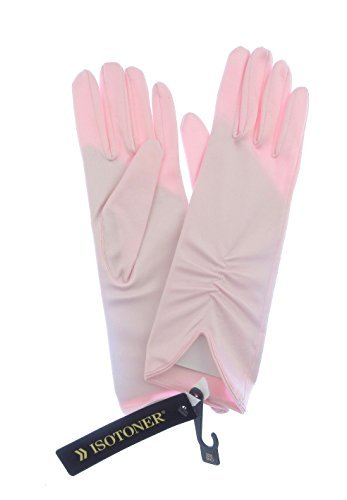 chiaro-rosa-pallido-damigelle-donore-wrist-guanti-di-raso-misura-adulto-elasticizzato