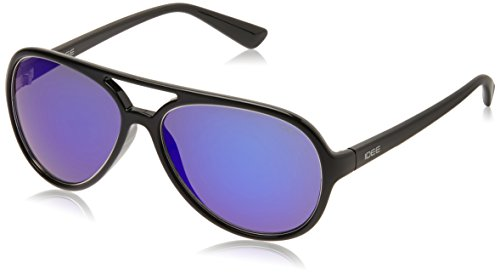 IDEE Aviator Sunglasses (IDS1939C5SG|57|Black ) image