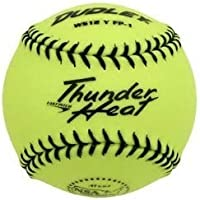 Dudley 4E de 203Y Softball Practice Pelota Thunder Heat – Yellow – 12 Inch