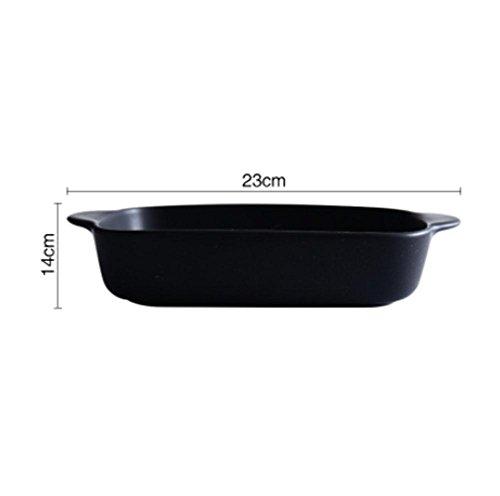 gen gebackenen Reis Teller Keramik Backform Ofen gewidmet Pasta Lasagne Backform Mikrowelle , black (Reis-käse)