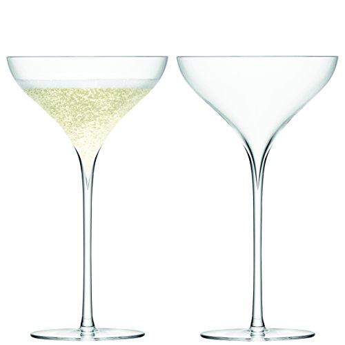 LSA Savoy Champagnerschale 250 ml, handgefertigt, 2 Stück