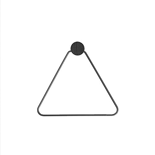 Porte-serviette en papier à papier triangle Nordic simple triangulaire ( Couleur : Noir )