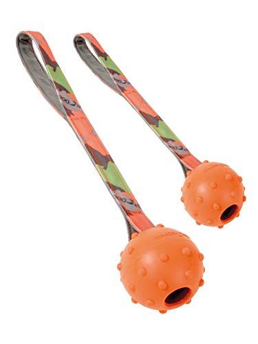 MAJOR DOG Doppelpack 2er Set Schleuderball Speed groß Ø 70 mm Hundespielzeug robust & schadstofffrei TÜV geprüft
