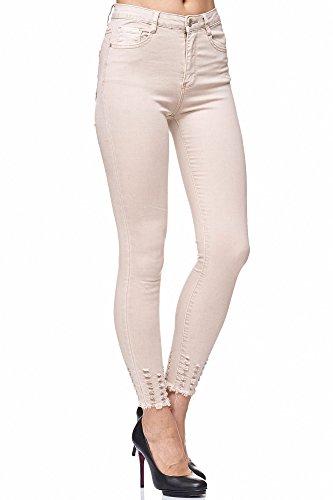 Elara Damen Jeans Stretch High Waist Skinny Slim Chunkyrayan