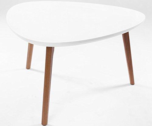 ComptoirXL Table Basse Triangulaire AIKA 80 cm x 80 cm chêne et Blanc