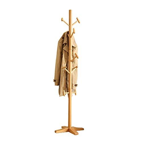 YONG FEI Salon Chambre Solide Bois Manteau Rack Simple Simple Moderne Hanger Montage Vêtements Rack Taille: 181x46x46cm Meubles