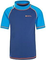 Mountain Warehouse Rash Tee Shirt Bain Enfants Top Manches Courtes Surf Plage Mer Protection UV
