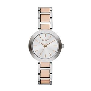 DKNY NY2136 - Reloj de cuarzo para mujer, correa de acero inoxidable multicolor de DKNY