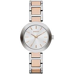 DKNY NY2136 - Reloj de cuarzo para mujer, correa de acero inoxidable multicolor