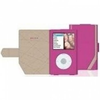 Belkin Leather Folio Case for iPod Classic Pink Leder - MP3-/ MP4-Player-Taschen (Pink, iPod Classic 80GB, 120GB, Leder) Belkin Leather Folio-pink