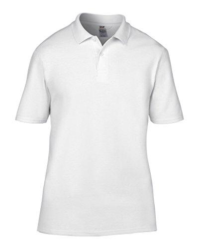 MAKZ Herren Poloshirt Wei - Wei