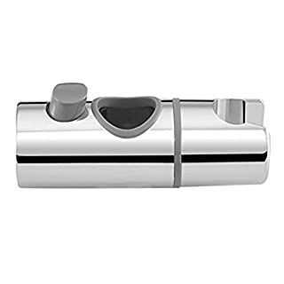 Yiyida Handbrause Halterung Wandstange Duschstange Schieber Gleiter Verstellbar Brausehalter ABS Chrome Fertig, 24mm Außen Durchmesser Slide Bar Dusche Halter