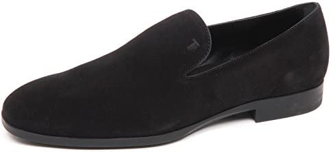 E3110 Mocassino uomo Nero Tod's Scarpe Loafer Shoe Man