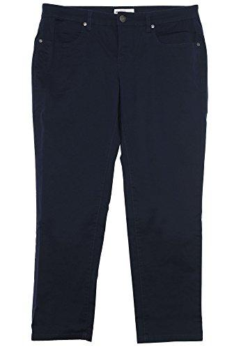 sheego Twill Jeans Die Schmale Damen Hose Pants Stretch Plusgröße Kurzgröße, Farbe:marine (navy);Damengrößen:25 (Twill Hose Jeans)