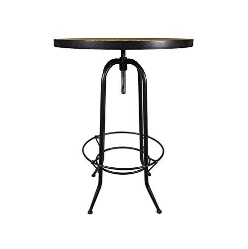 Coup De Cœur Design - Table Haute Vintage Noire Métal