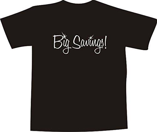 T-Shirt E1206 Schönes T-Shirt mit farbigem Brustaufdruck - Logo / Grafik / Design - Schriftzug GROßE ERSPARNISSE Weiß