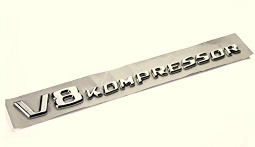 Preisvergleich Produktbild V8 Kompressor Chrom Emblem, Schriftzug selbstklebend