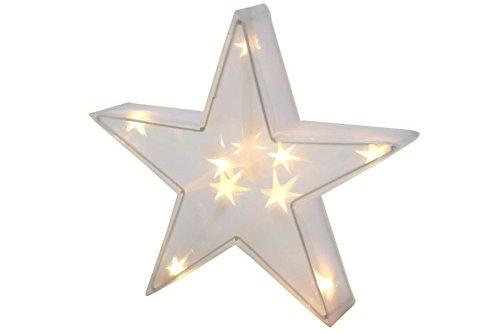 Leuchtstern Hologramm 50 cm 24 LED 3D Deko Stern Beleuchtung
