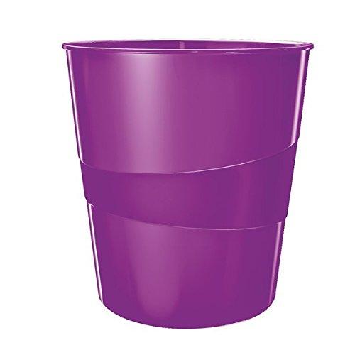 Leitz 52781062 Papierkorb WOW, 15l, Polystyren, violett