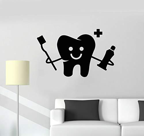 SUPERSTICKI Lustiger Zahn mit Zahnbürste Zahncreme Zahnarzt 40cm Aufkleber,Autoaufkleber,Sticker,Decal,Wandtattoo, aus Hochleistungsfolie,UV&waschanlagenfest,