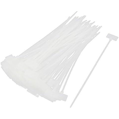 100pcs HCT-210 de nylon con cremallera corbata escriben en la etiqueta del cable de alimentación Cable Marcos Tag
