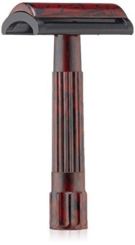 Merkur Bakelit-Rasierer, Schwarz/Rot