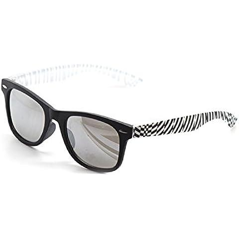 Ultra® nero con i lati a strisce per bambini bambini Wayfarer Style occhiali da sole UV400 UVA UVB classiche sfumature