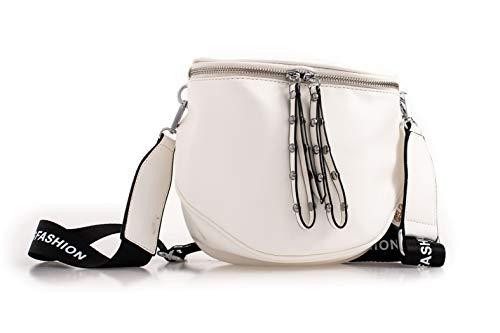 LeahWard Kleine Designer-Umhängetaschen für Damen K60 (Weiß)