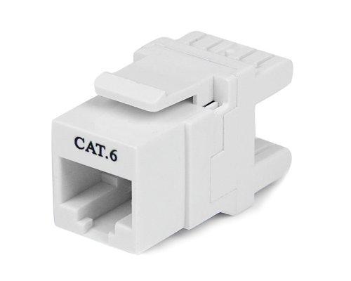 Startech C6KEY110SWH - Conector de Pared Cat 6, Blanco, Blanco