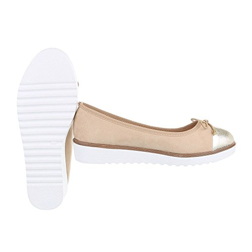 Ital-Design - Scarpe chiuse Donna Beige Gold