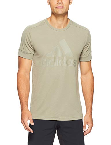 adidas Herren ID Stadium Badge of Sport Kurzarm T-Shirt, Trace Cargo, M