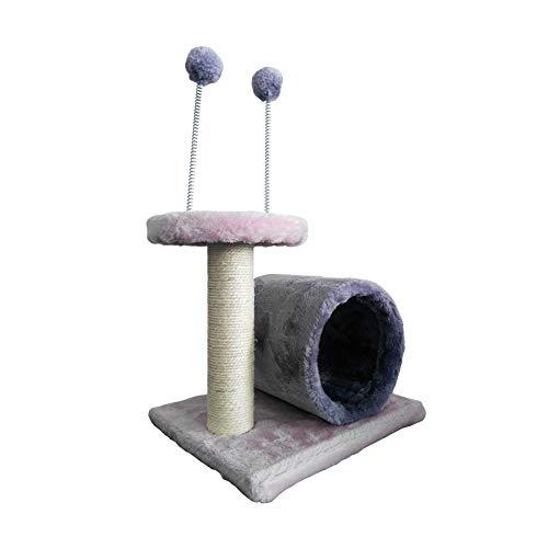 Mobili Rebecca LuckyPet Escalador Poste Gimnasio Gato Cuerda Sisal Peluche Rosa Gris Túnel Juego(Cod. LU8049)